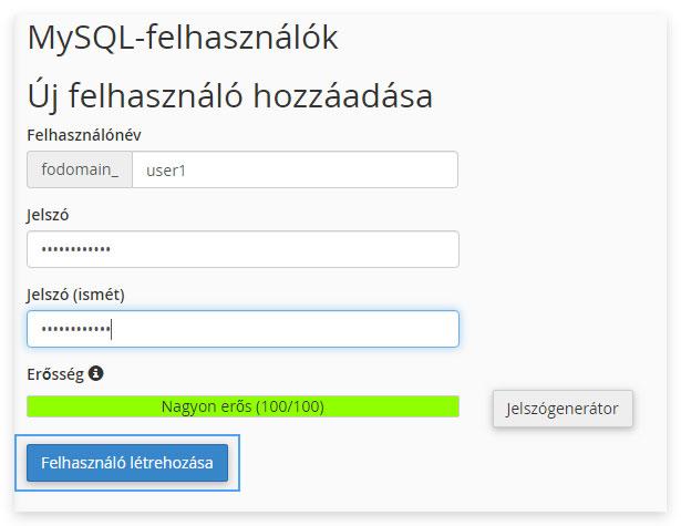 MySQL Adatbázisok opció használata - Tudásbázis - Magyar Hosting Kft.