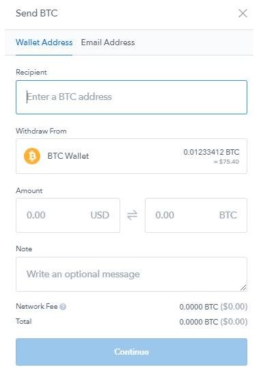 bitcoin-bevételek azonnali kivonással a pénztárcába