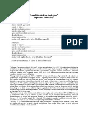 Vételi jog alapítása Letölthető iratminta: Vételi jogot alapító szerződés (ingatlanra) -