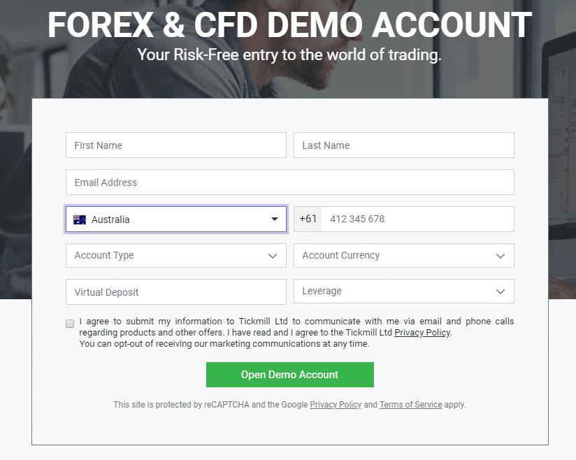 online kereskedés demo számlával