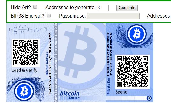 Bitcoin cím generálás, bitcoin cím létrehozás