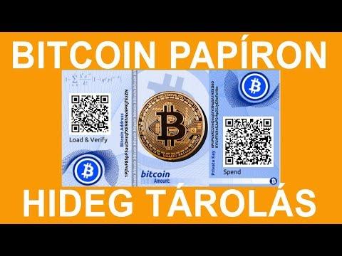 hogyan lehet hideg bitcoin pénztárcát készíteni