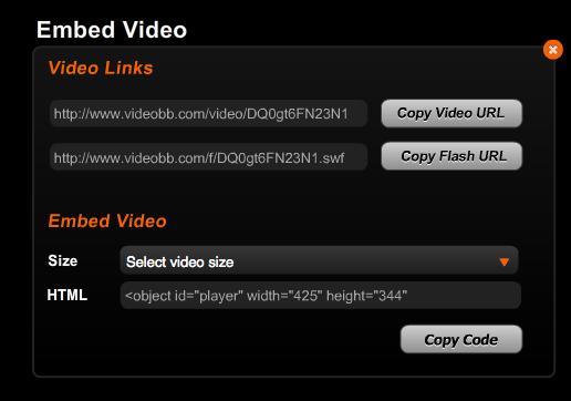 videó opciók 1 perc