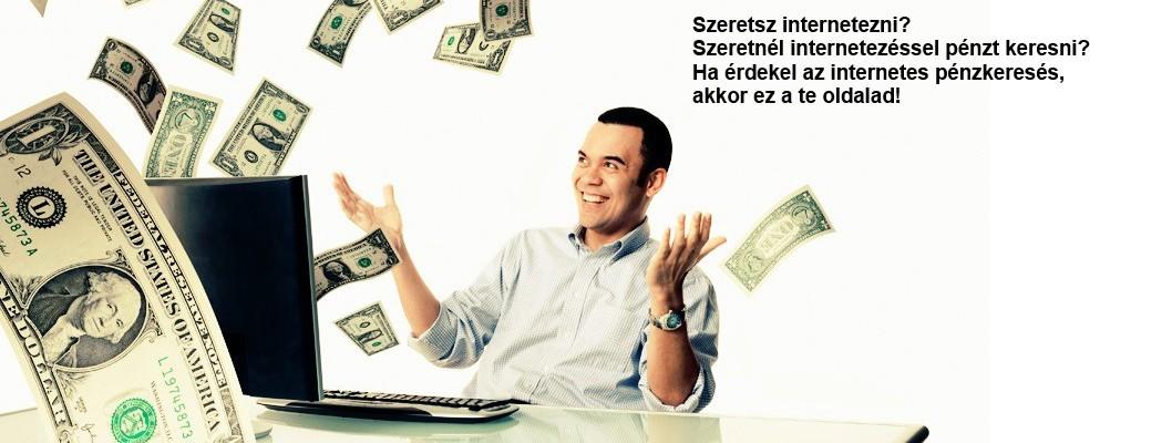 pénzt fektet az internetre